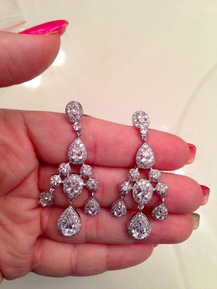 Cz Empire Chandelier Earrings Dessy Group Wedding