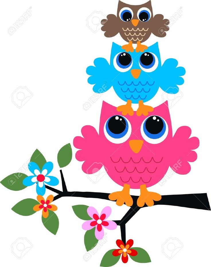 Three Colorful Owls Royalty Free Cliparts, Vectors, And Stock Illustration. Pic 15854640.