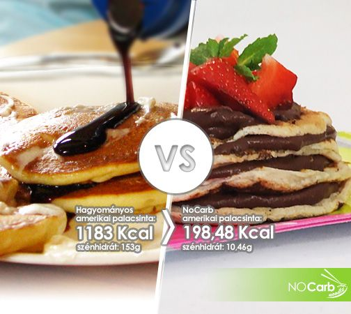 Hagyományos amerikai palacsinta VS NoCarb amerikai palacsinta | Recept: http://youtu.be/MNyvdxjkp1U