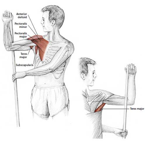 Arm Up Rotator Stretch - Common Neck & Shoulder Stretching Exercises | FrozenShoulder.com