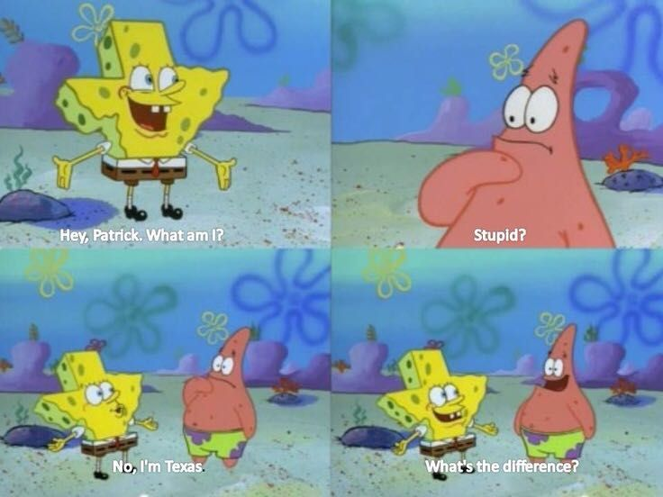 SpongeBob roast Texas