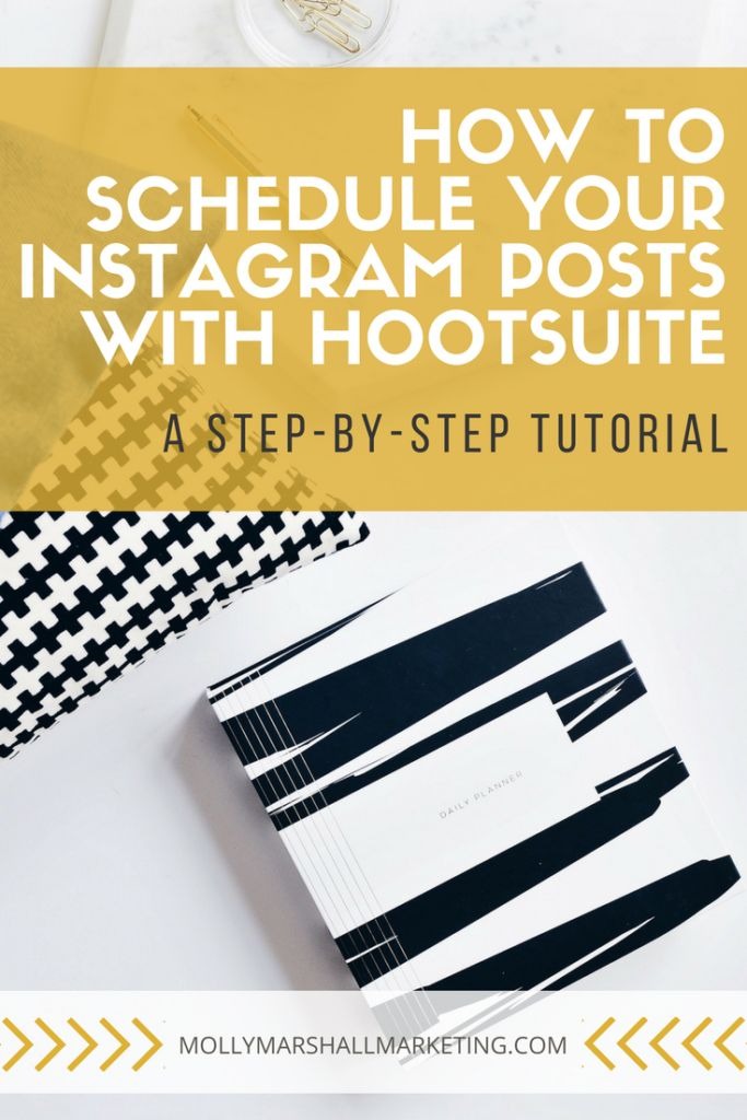 A step by step tutorial for using HootSuite to schedule your #Instagram posts! // Molly Marshall Marketing