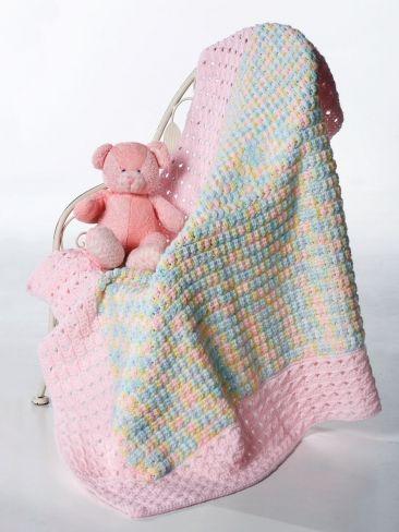 Clusters and Crosses Blanket | Yarn | Free Knitting Patterns | Crochet Patterns | Yarnspirations
