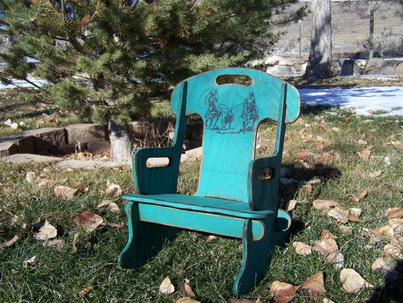 Puzzle Rocker-Rocking chair for kids. Rustic rocking chair