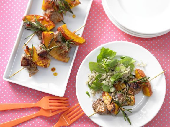 Lamb Skewers with Bulgur Salad   Eat Smarter