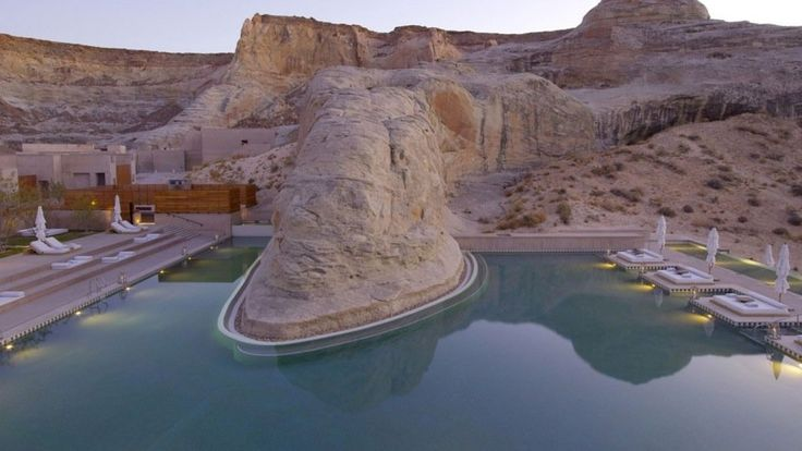 piscine de l'Amangiri Hotel aux Etats-Unis
