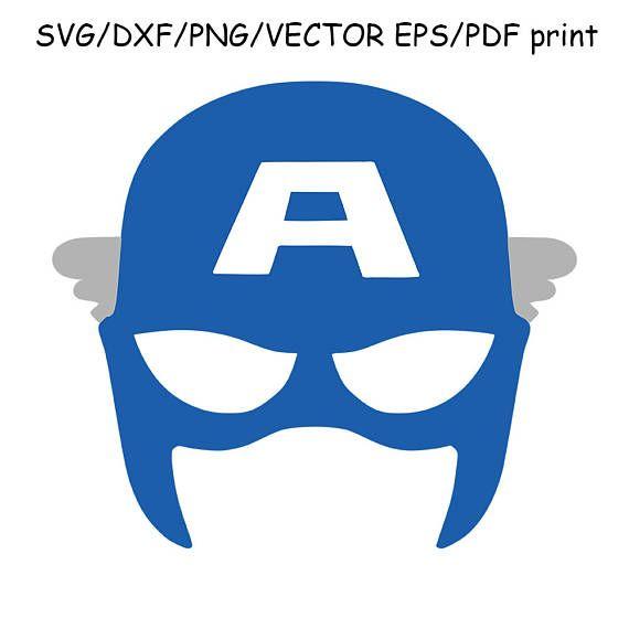 Captain America Mask SVG DXF Captain America Cut File Clipart