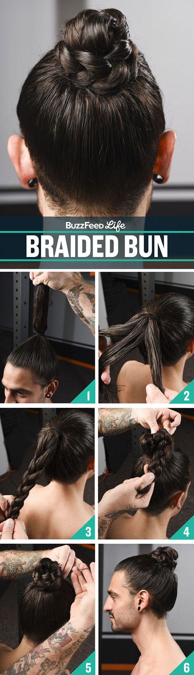 Best 20 Braided Man Bun Ideas On Pinterest