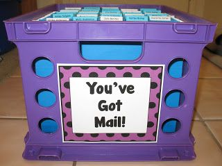 """Here's a terrific idea for handing back papers. Students check their """"mail"""" each day or once a week to find their graded work."""