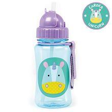 Skip Hop 12 Ounce Zoo Straw Bottle  Eureka unicorn