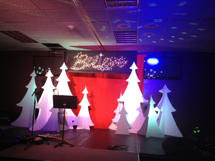Believe again christmas series stage set stuff we build for Auditorium stage decoration