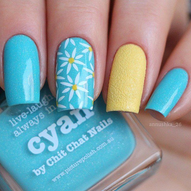 Here are 12 lovely floral designs with this stamping plate to give your nails the perfect floral look. Beautiful nails by annushka_26