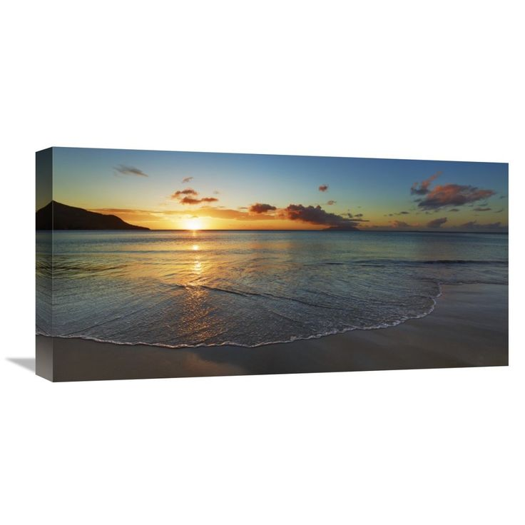 Global Gallery Frank Krahmer 'Baie Beau Vallon, Seychelles' Gallery-wrapped Canvas Wal Art
