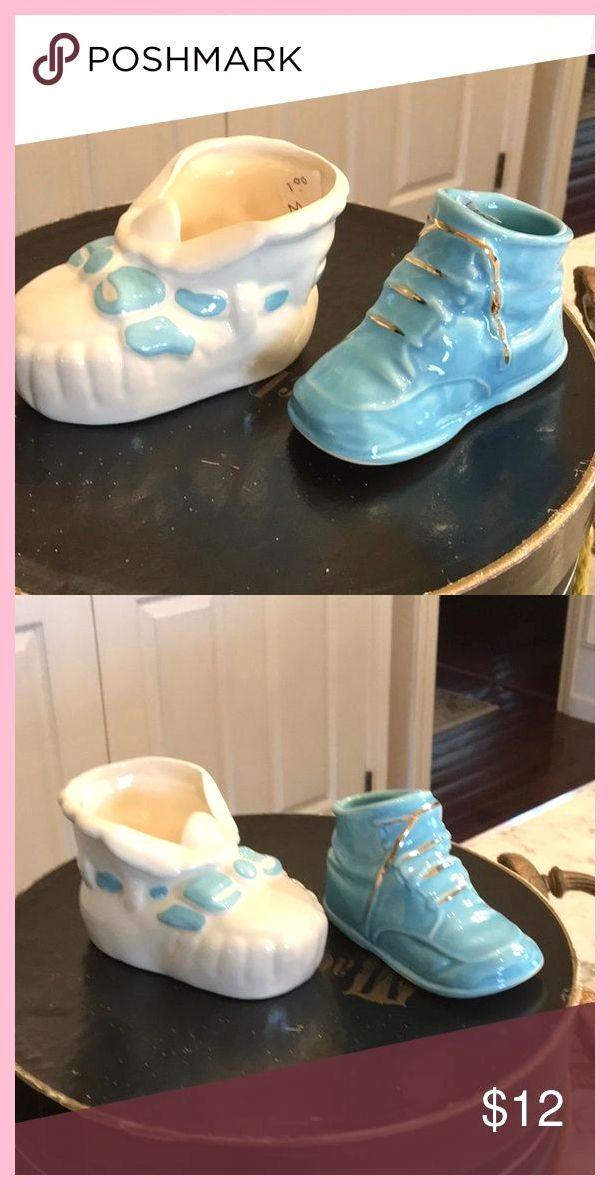 Vintage keramische baby booties Leuke vintage keramische baby boy schoenen voor …