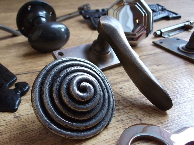 A mix of British made door furniture and ironmongery, available from British Ironmongery. Shown here are pewter, real bronze and wrought iron items, all traditionally handmade. These rustic items are most suited for period and vintage homes and refurbishment projects, but can also add character to any new build property too. Available from - http://www.britishironmongery.co.uk/