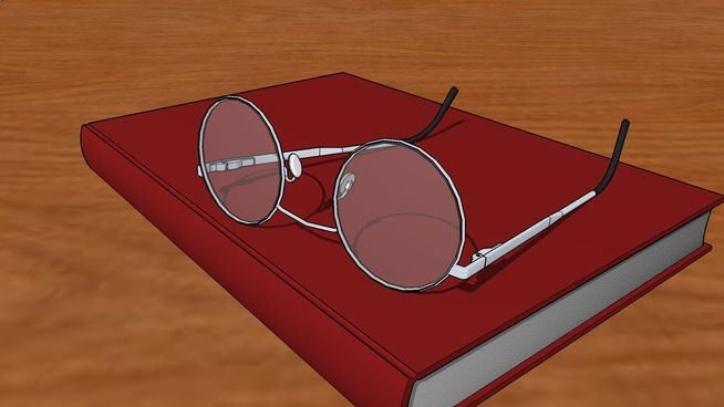 Book & Glasses - 3D Warehouse