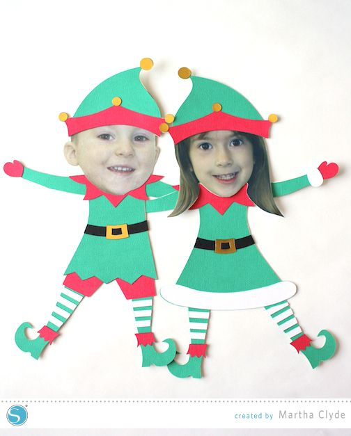 Silhouette America Blog | Yourself as an Elf | A Peel and Stick Christmas Craft