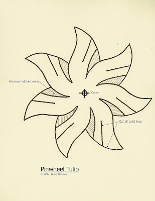 Il Paper Trail: tulip pinwheel