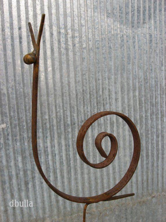 Metal Garden Snail: