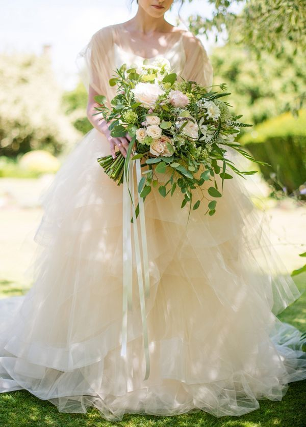 ふわふわチュールとオーガンジーのドレスの虜♡白いオーガンジーの花嫁衣装・ウェディングのまとめ一覧♡