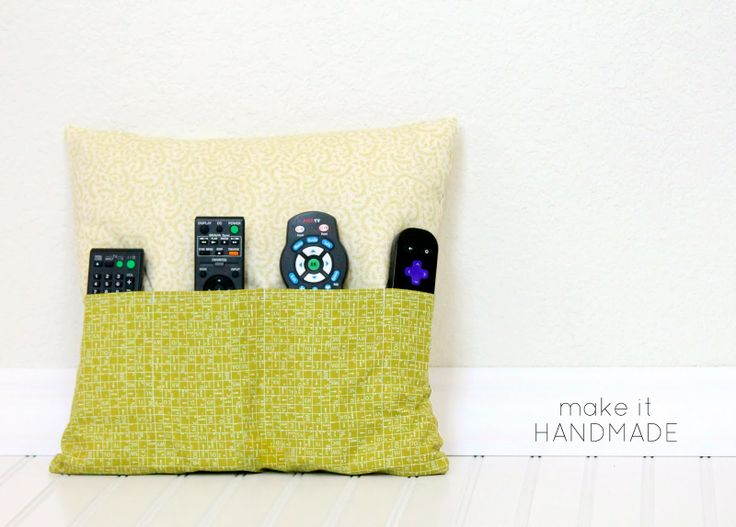 DIY: remote control pocket pillow