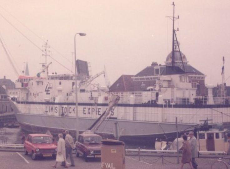 Harlingen - vrachtschip Buffalo Express - 1984