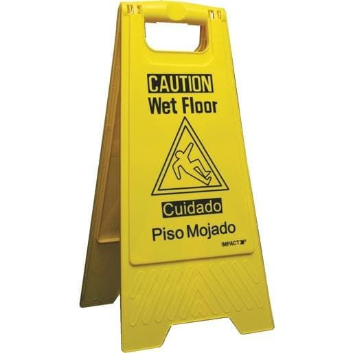 Impact Prod. Wet Floor Sign 9152W-90 Unit: Each, Yellow