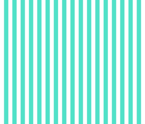 Turquoise Stripes Fabric By Xoelle On Spoonflower