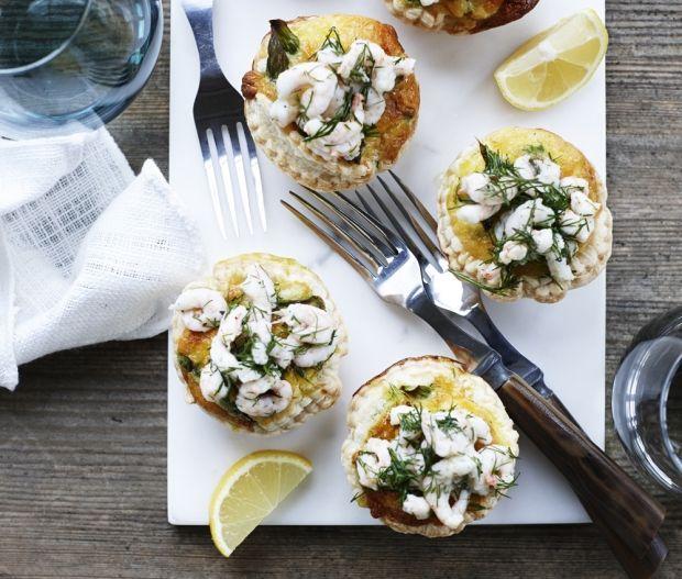 Tarteletter med asparges og rejer - Få den bedste opskrift her