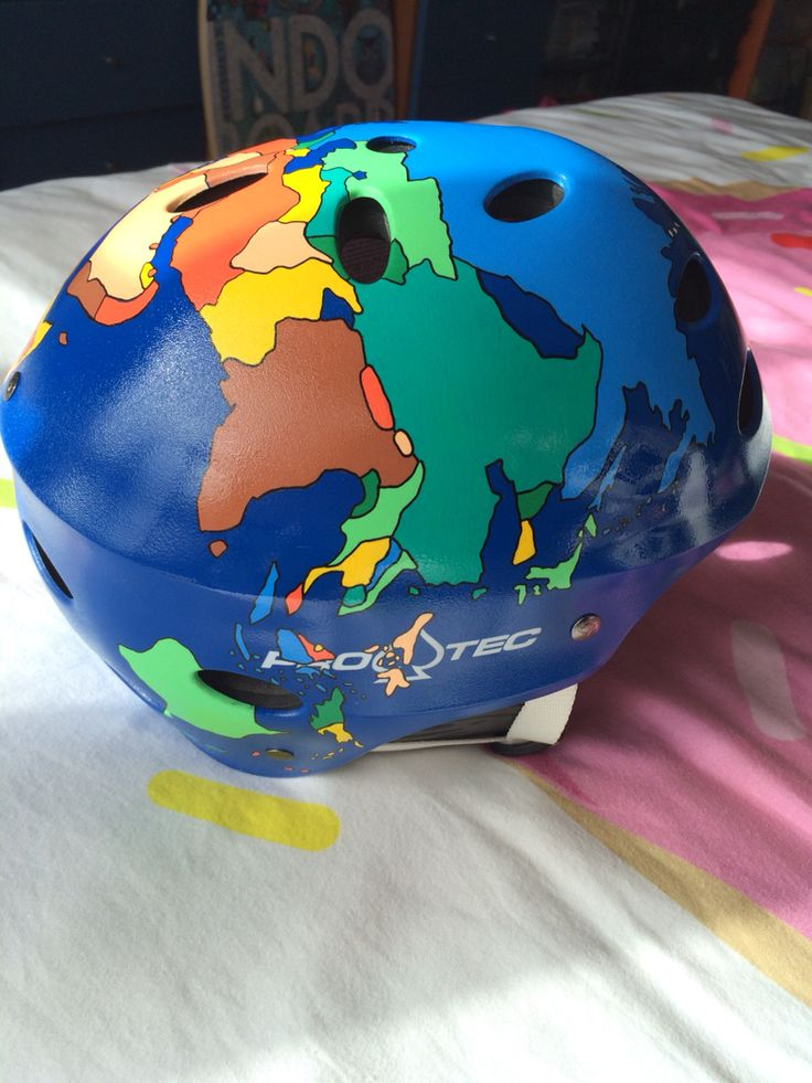 surf helmet surfing mapamundi wake helmet pro-tec protec B2 paint posca