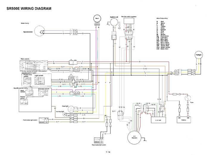 big bear 350, big bear 400, g1e, on yamaha sr500 wiring diagram