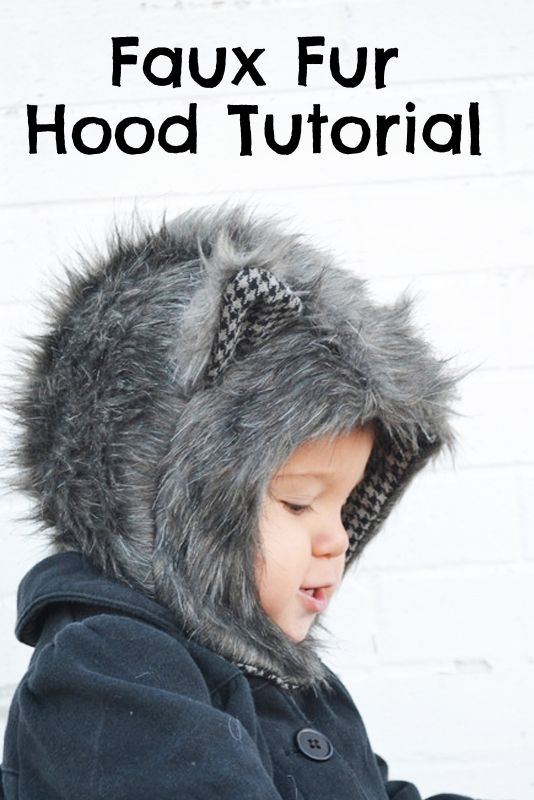 Faux Fur Hood Tutorial + Free Pattern in 6 Sizes from @cw262dh