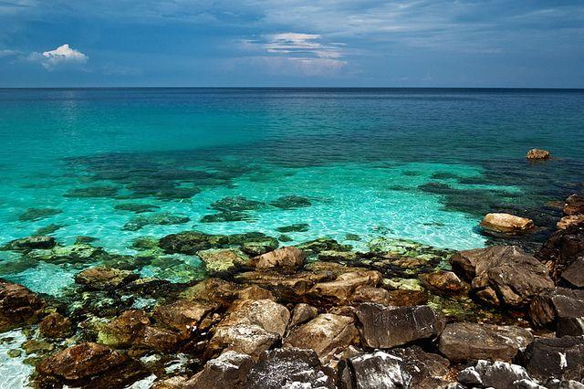Marble Beach, Thassos by Pe11e, via Flickr