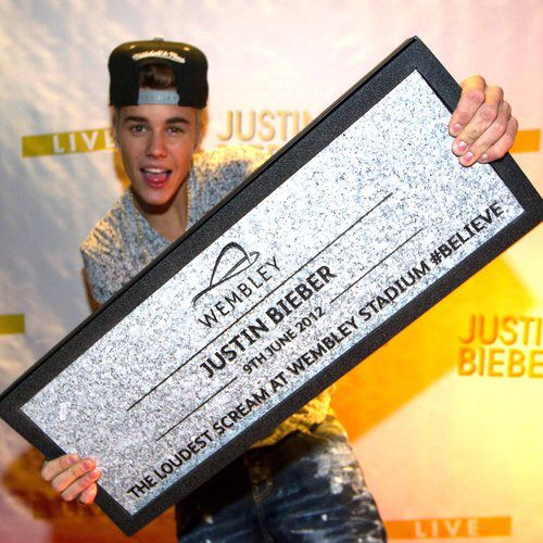 Justin Bieber is awarded a 'Wembley Stone' performance for the Summertime Ball!