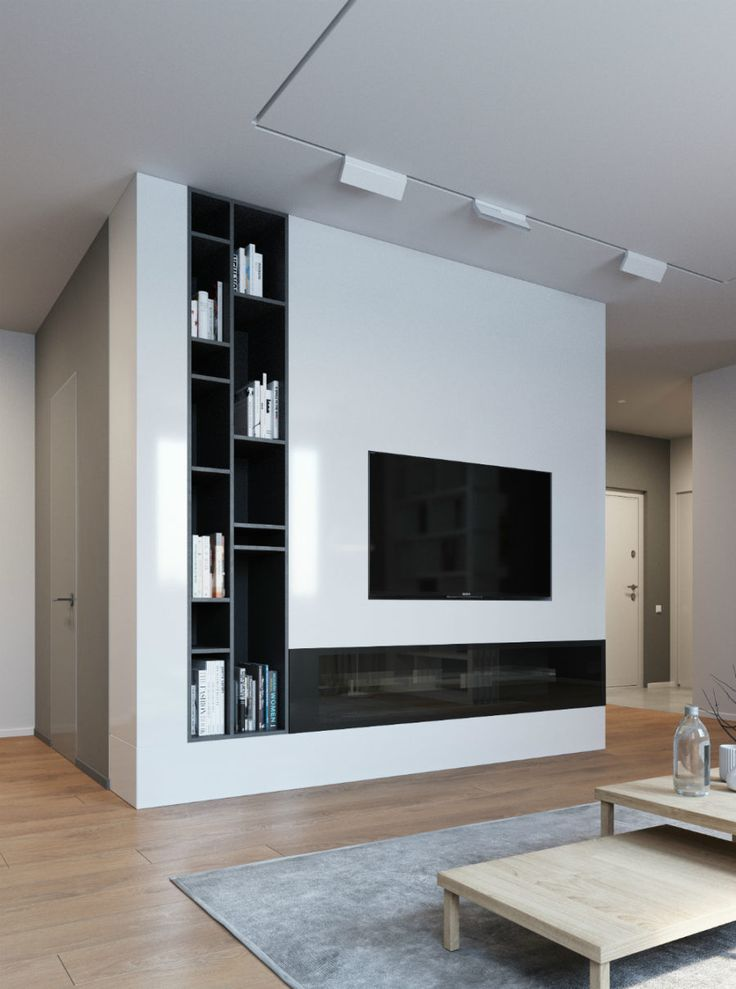 TV wall storage 900x1210 Elegant, Contemporary, and Creative TV Wall Design Ideas