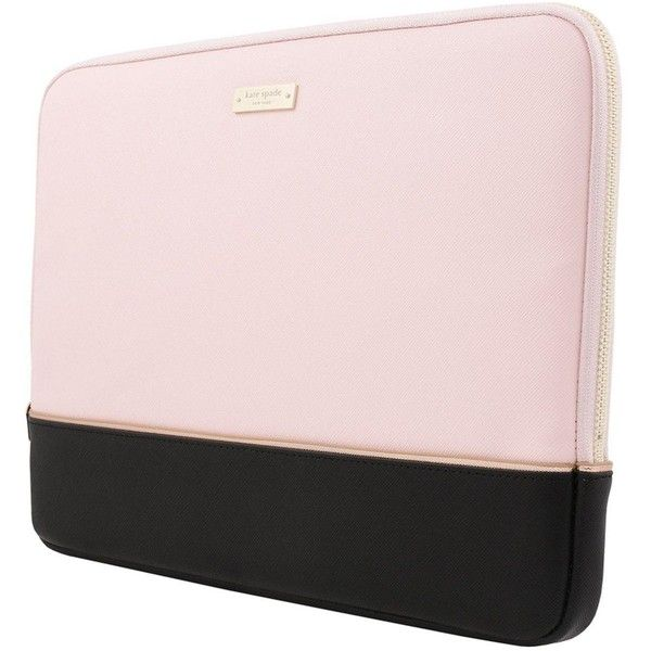 Kate Spade New York Colour Block 13&Rdquo; Macbook/Laptop Sleeve... ($65) ❤ liked on Polyvore featuring accessories, tech accessories, kate spade, slim laptop case, kate spade laptop case, laptop case and laptop travel case