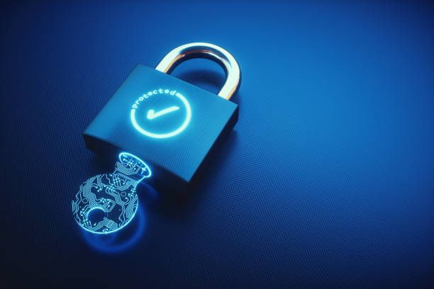 Simple Key And Padlock With Ok Symbol On An Empty Surface Stock Photo More Pictures Of Accessibility Kripta