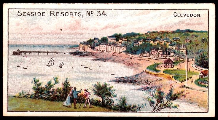 "Wills's Cigarettes ""Seaside Resorts"" (series of 50 issued in 1899) #34 Clevedon, Somerset"