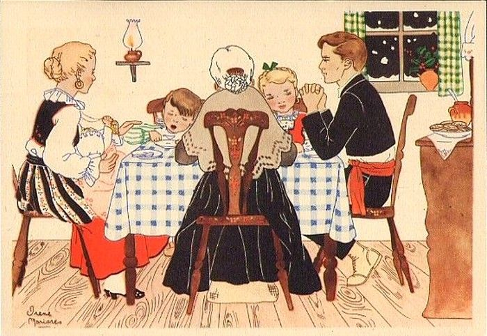 Old Christmas Post Сards — Portugal Old Postcard Stationery, 1946 (700x488)