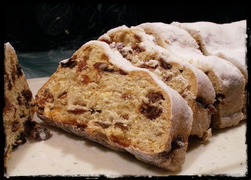 There is no Christmas in Germany without a Stollen. A wonderful sweet, bread-like treat, that melts in your mouth! We usually eat it with some coffee, f