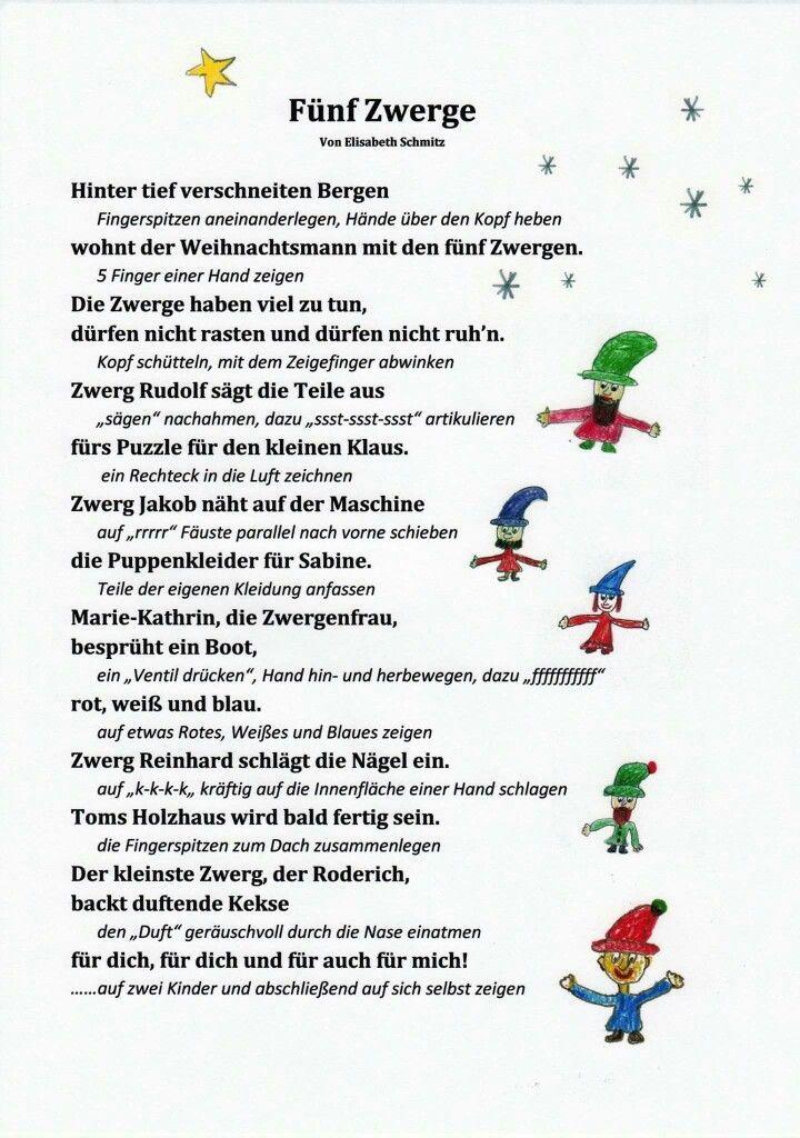 Weihnachtsgedicht mit Fingerspiel