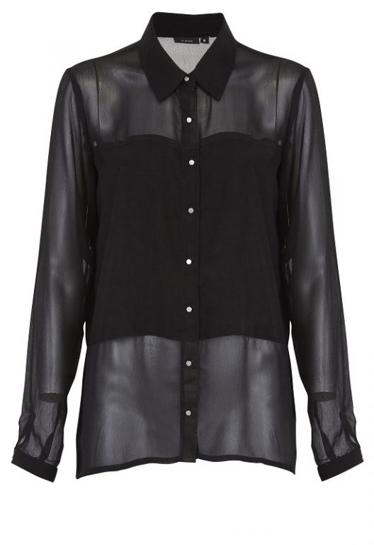 Fransa Hechi Shirt Black - Skjorter - MaMilla