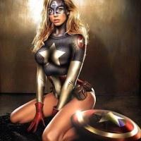 Ilustraciones de superheroes en versión femenina: American Dream, Female Superhero Cosplay, Captainamerica, Marvel Comic, Captain America, Comic Book, Comicbook, Stacy Keibler, Animal Girls
