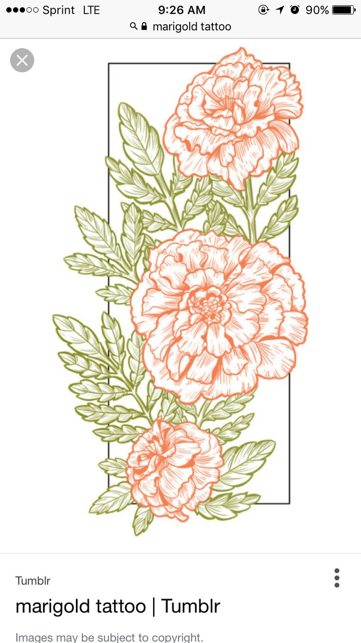 marigold tattoo idea