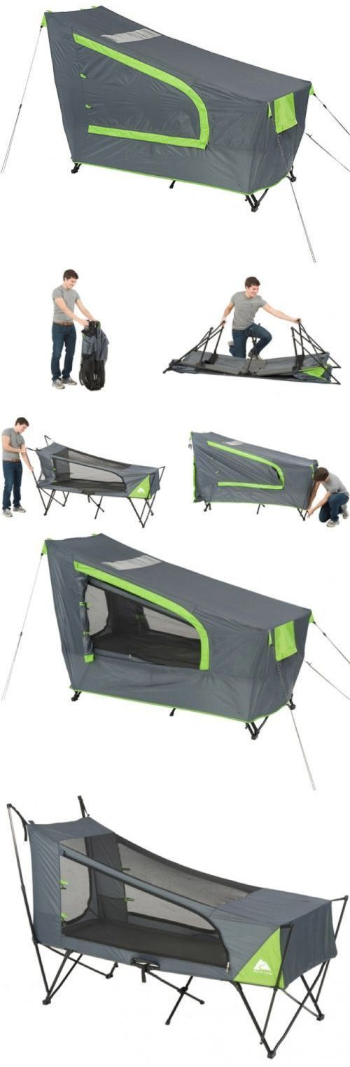 Tents 179010: New In Box Ozark Trail Instant Tent Cot With Rainfly, Sleeps 1 Camping Hiking -> BUY IT NOW ONLY: $89.99 on eBay!