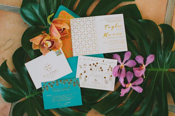 moderne tropische Einladungsreihe   – Wedding Invitations