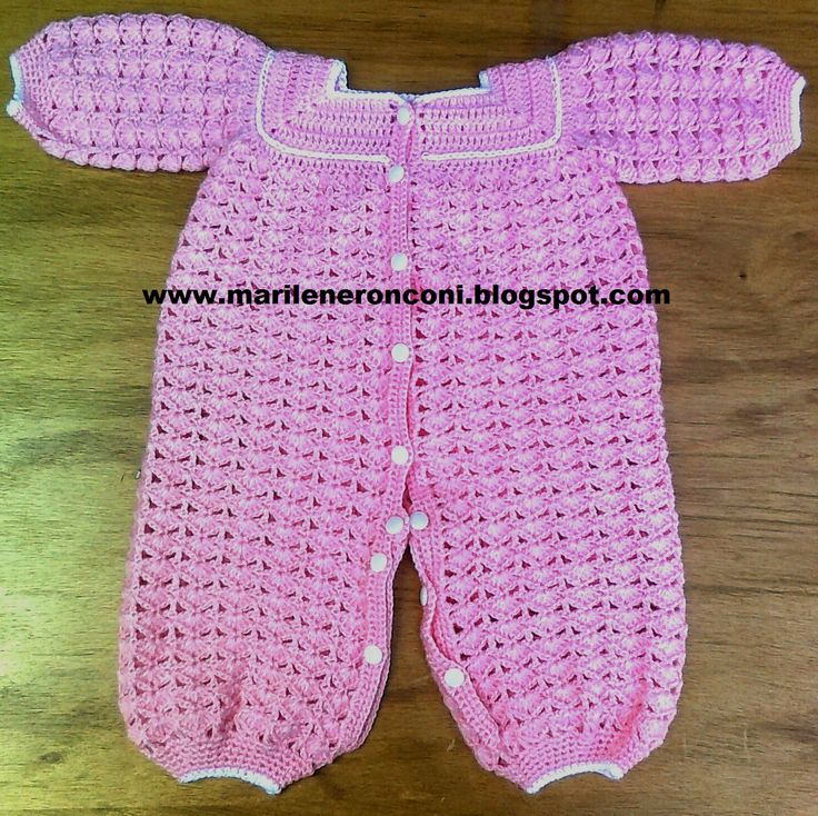 Baby onesie tutorial in Spanish, but easy to follow. Crochet for ...