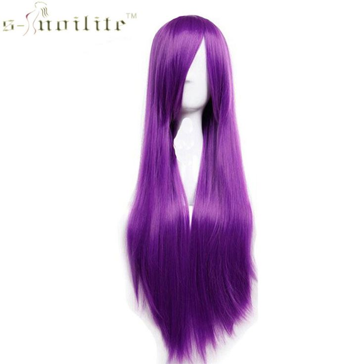 Buy SNOILITE 32 80cm Lady Long Straight Purple Women Party Cosplay Wig Synthetic Heat Resistant Full Hair. Click visit to read descriptions