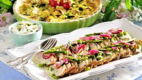 Lyxig middag blir den dubbelmarinerade och smakrika ytterfilén som du serverar med fräsch färskpotatispaj. Supergott på grillen!