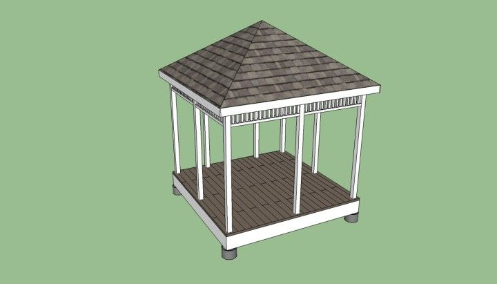 Great Basic Gazebo Designs  in Dark Hues at Simple Gazebo Plan